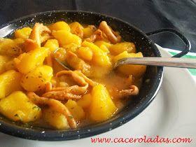 Caceroladas: Cazuela de patatas y calamares