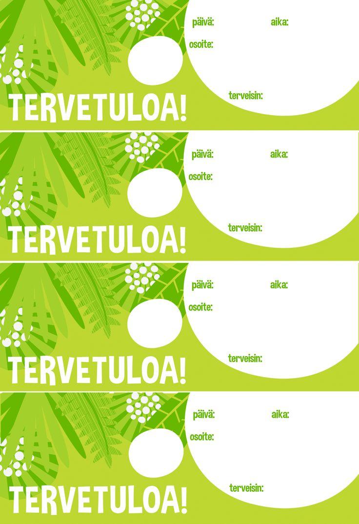 Kutsukortit | lasten | juhlat | syntymäpäivät | synttärit | onnittelukortti | askartelu | paperi | paper | DIY ideas | birthday | invite | card | kid crafts | Pikku Kakkonen | yle.fi/lapset