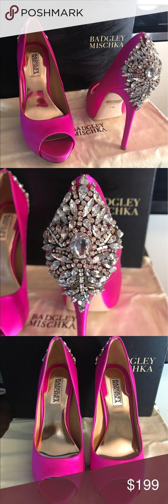 Badgley Mischka Kiara Crystal Embellished Carmine Pumps new with box Badgley Mischka Shoes Heels