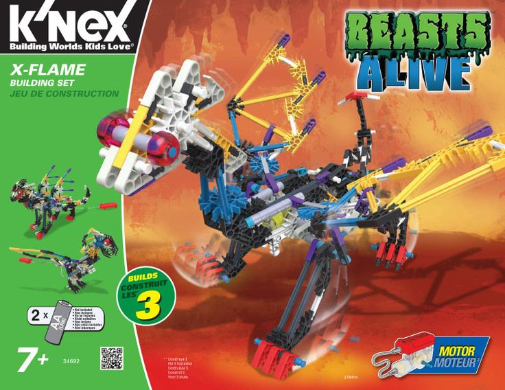 K'Nex Beasts Alive X-Flame #Giveaway #GiftGuide