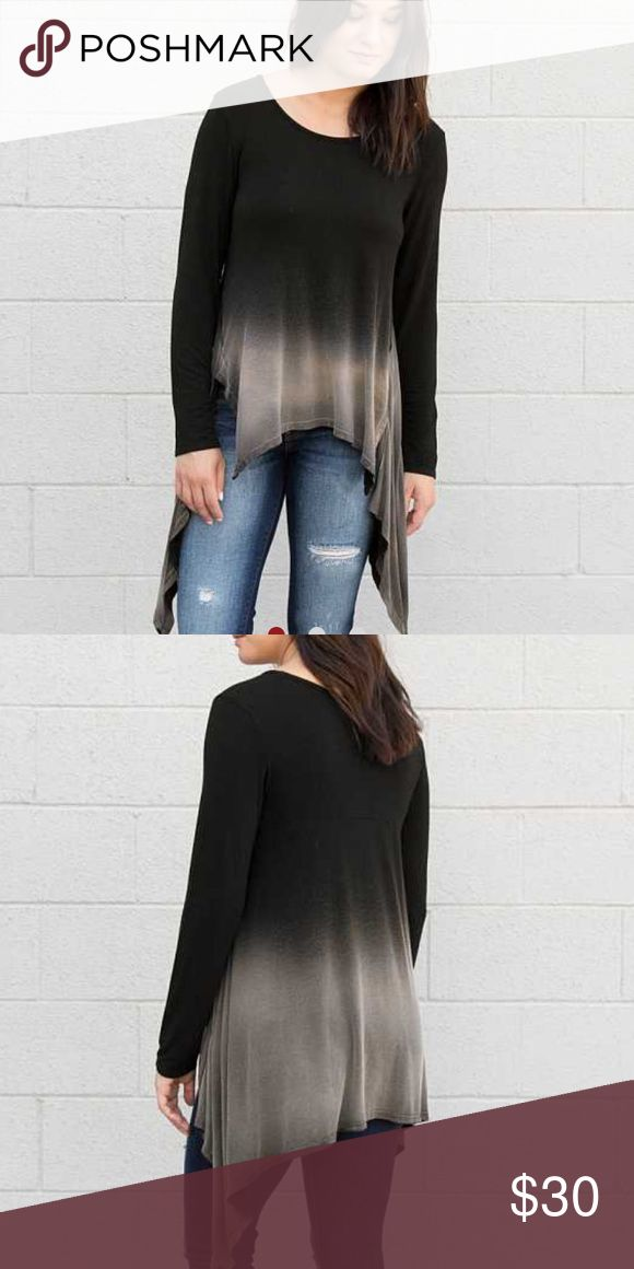 The Buckle - GILDED INTENT DIP DYE TOP 💜 New. Buckle Tops