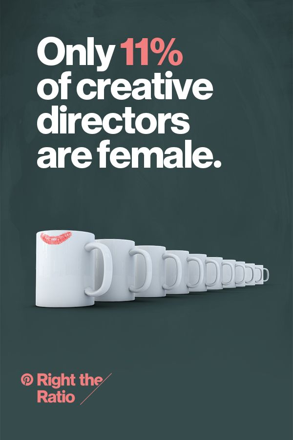 While women make up 46% of the advertising industry, only 11% of creative directors are women. Let's change that together. Discover advice and inspiration on how we can all help overcome inequality and right the ratio.