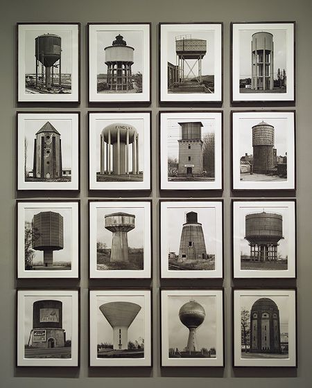 Watertowers, 1967–80; printed 1980  Hilla Becher (German, born 1934); Bernd Becher (German, 1931–2007)  Gelatin silver prints