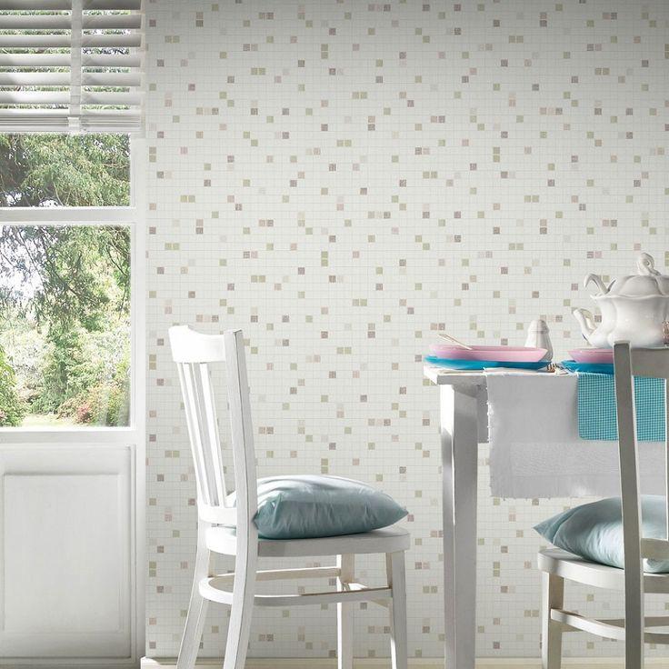 88 mejores im genes sobre papel pintado ladrillo y piedra - Papel pintado sobre azulejos ...