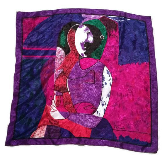 Picasso Scarf / Abstract Scarf / Artistic Scarf by RetroFreshTees, $16.00