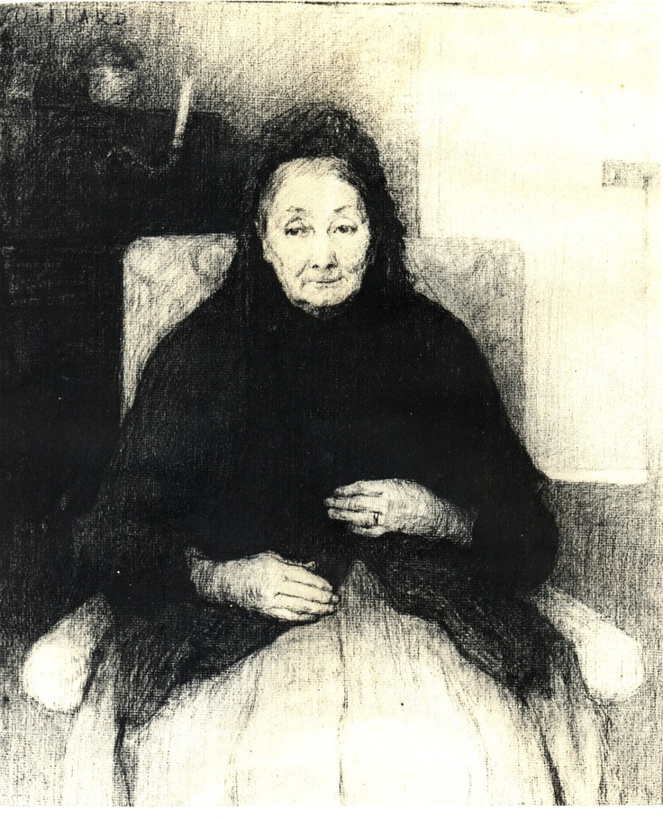(7)...she lived there with her aged Polish mother who had more or less withdrawn from the world in widowhood...