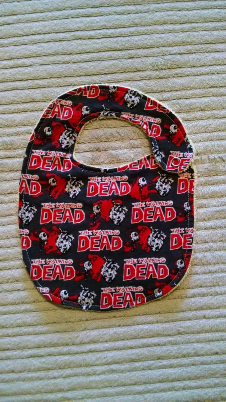 SALE* The Walking Dead Bib or Burp Cloth by AweBeeDesigns on Etsy