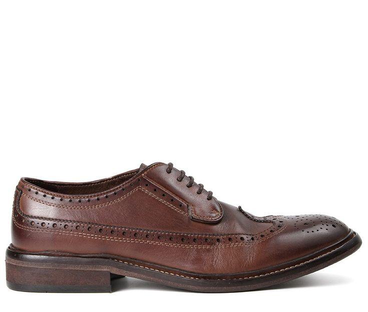 Somme Drum Dye Brown Brogue Shoe (£175.00) - Part of our Hudson London range…