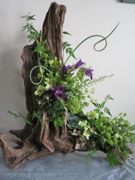 flower arrangements featuring wood - Google Search