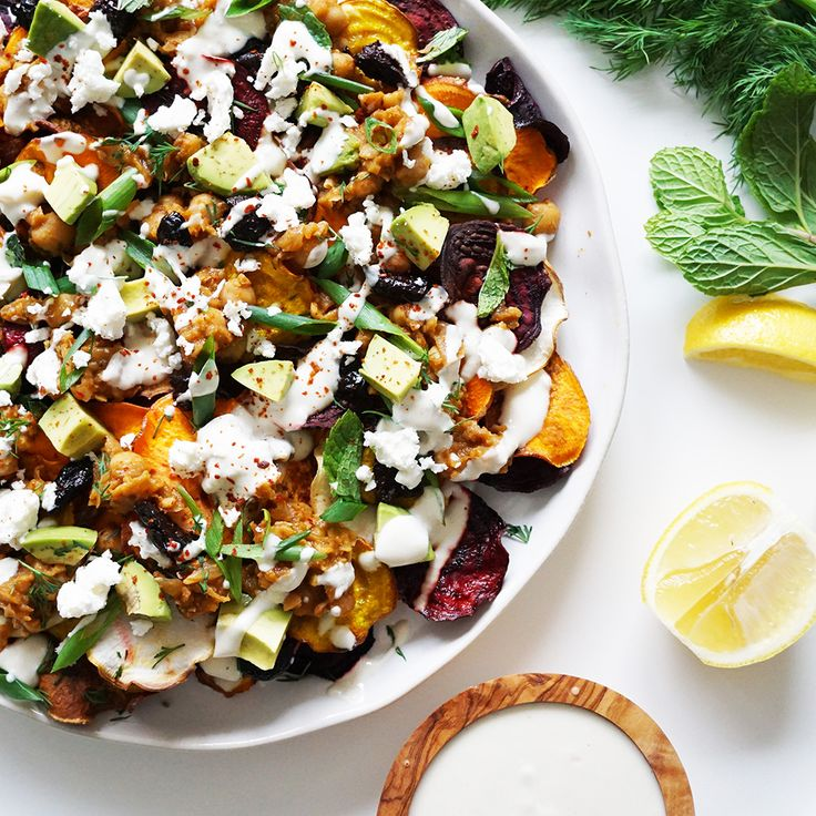 These Mediterranean Nachos will be a crowd pleaser.
