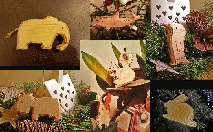 Some Christmas decorations made with Dremel router tool