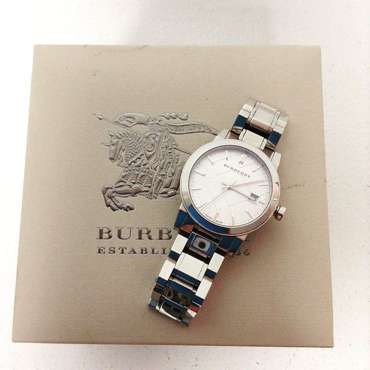 Burberry stainless steel sapphire crystal $199.99 with box  Item #6513-13132