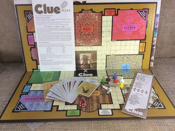 Vintage 1972 Clue board game Clue game complete from 1972