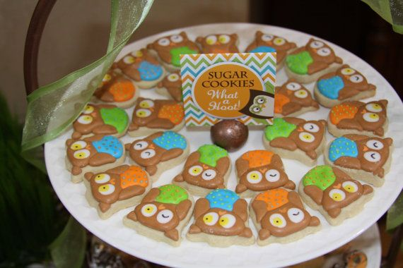 Owl Baby Shower Cookies!    Printables at www.CreativeStationery.etsy.com  Owl Cookies at www.SweetArtSweets.etsy.com