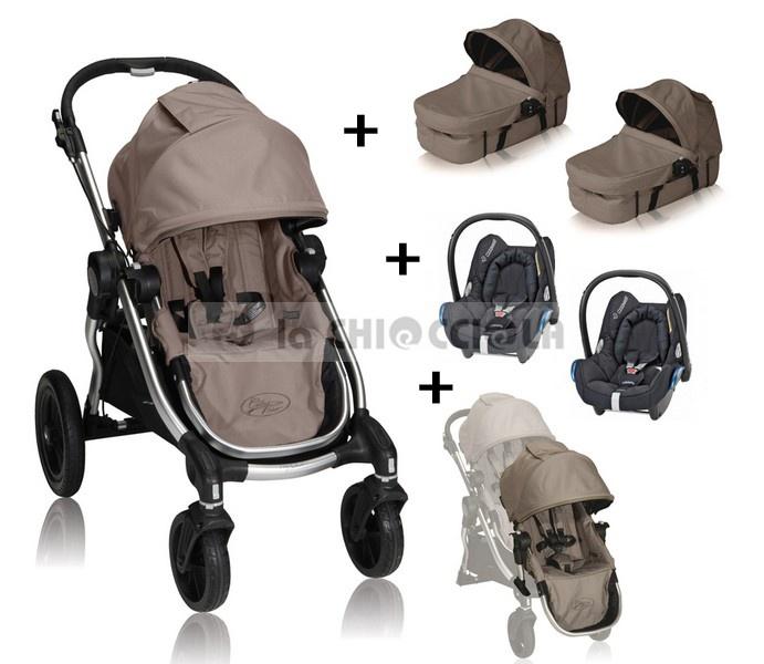 Trio Gemellare Baby Jogger City Select 2013 a 1449 €!!  Passeggino City Select + Seconda Seduta + 2 Navicelle + 2 Seggiolini Auto Maxi Cosi + 2 Adattatori.  http://www.lachiocciolababy.it/bambino/trio_gemellare_baby_jogger_city_select_2013-5588.htm