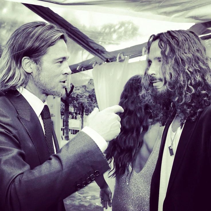 Brad Pitt and Chris Cornell. Can I handle the awesomeness? Noooo, I think not.
