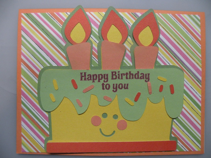 Wonderful How To Make The Best Birthday Card Ever Part - 5: Easy To Make Homemade Birthday Card With A Cricut