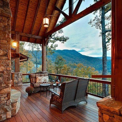 #Deck with a #Mountain #View