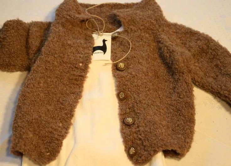 Baby Strickjacke aus Alpaka Boulce