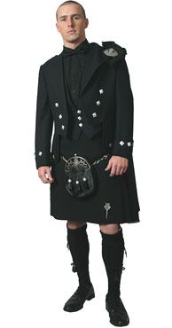 mmhmm all black kilt. would work since its my family ancestors that is from Scotland