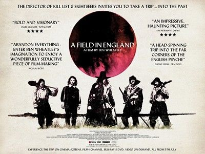 "A film in England and psychedelic brilliance, ""A Field in England"" directed by the Ben Wheatley"