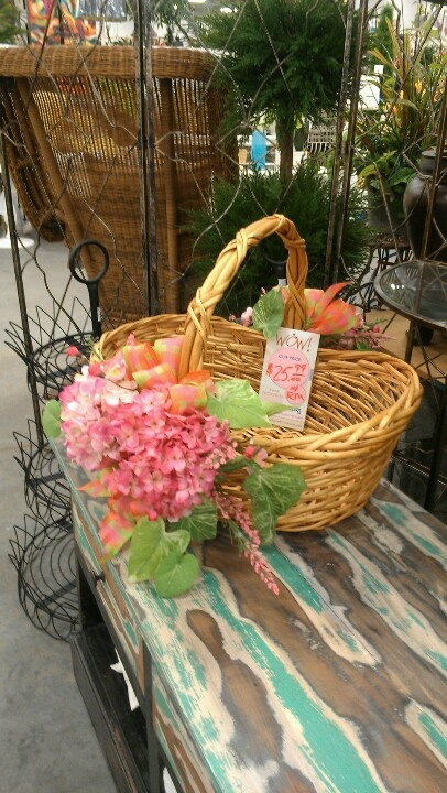 Decorated basket by ray
