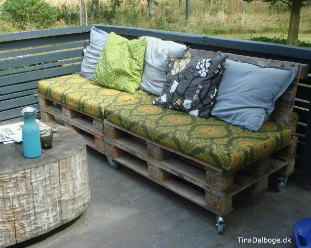 Sofa lavet ud af paller - køb billige møbelhjul i kreahobshop
