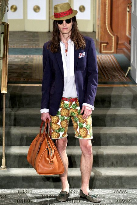 Michael Bastian Spring 2014. At first, I was appalled. Now, it's kind of grown on me.