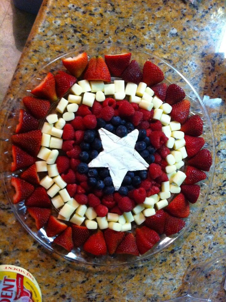 Captain America Fruit Amp Cheese Tray Avengers Birthday