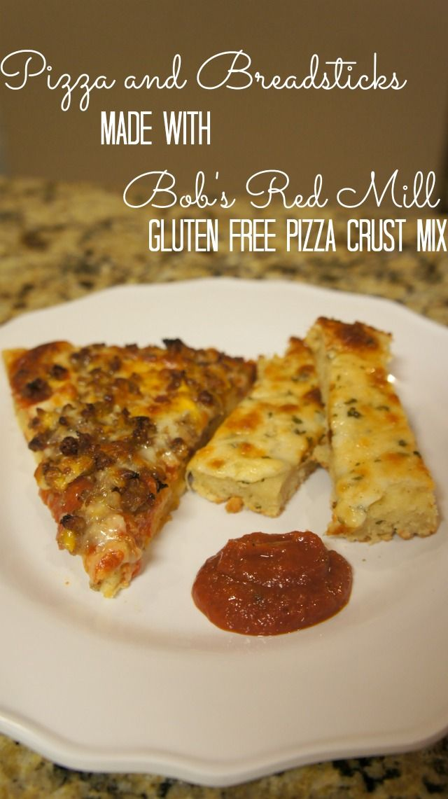 Gluten Free Pizza & Garlic Cheesy Bread made with Bob's Red Mill Pizza Crust Mix: Bobs Red Mill
