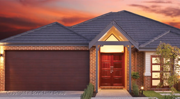 Colorbond Timber Grain Slim Line Sectional Garage Door
