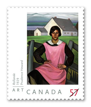 "Canada Post - 2010 Art Canada: Prudence Heward ""In my opinion, [Prudence Heward] was the very best painter we ever had in Canada and she never got the recognition she richly deserved in her lifetime. I wanted her to join the Group of Seven, but like the Twelve Apostles, no women were included."" A.Y. Jackson, founding member of the Group of Seven"