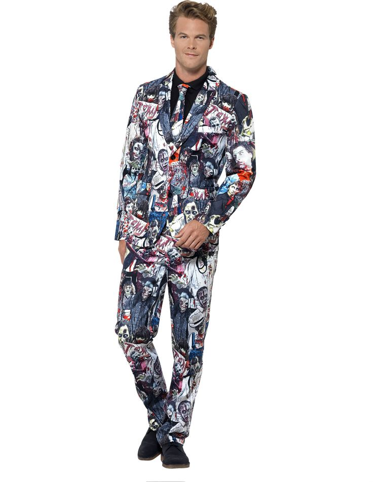 Matching suit with horror zombie motives, for the Monday morning meeting