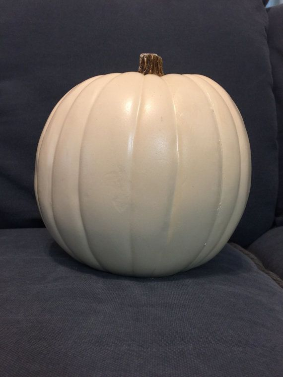custom 9 white foam pumpkin your  initials by CindysCarvedCreation