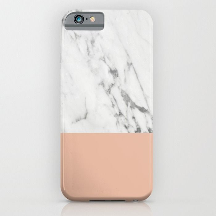 Marble and Coral iPhone & iPod Case