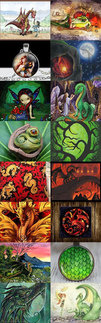 Dragons by Julia Kotré on Etsy--Pinned with TreasuryPin.com