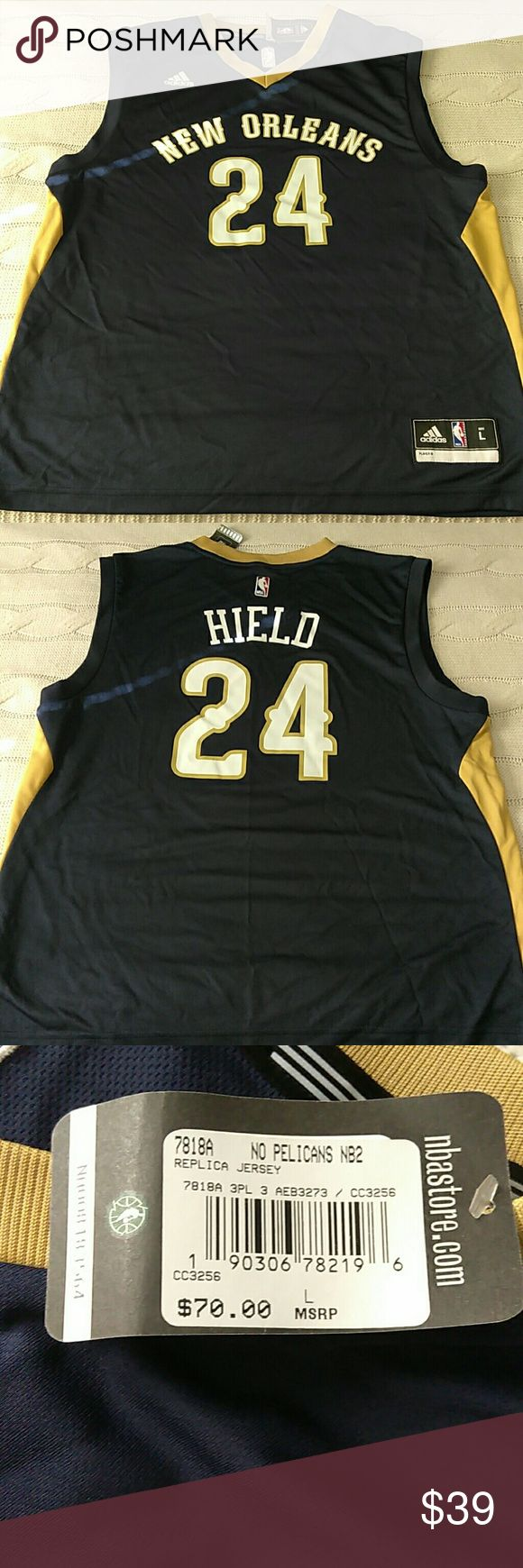New Adidas NBA Store New Orleans 24 Hield Jersey New Adidas NBA Store New Orleans 24 Hield Replica Jersey adidas Shirts