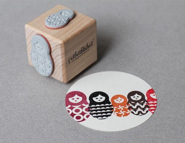 Weiteres - Matroschka, Stempel mit 4 Motiven - ein Designerstück von perlenfischer bei DaWanda