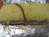 Rotolo pandoro e cioccolato, ricette con pandoro, riciclo pandoro, avanzi pandoro