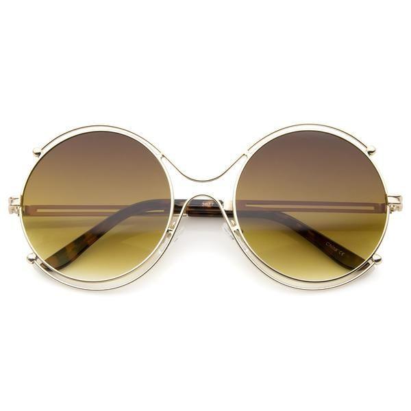 HAOYUXIANG Frau Männer Metall Retro Sonnenbrille,RedFilm