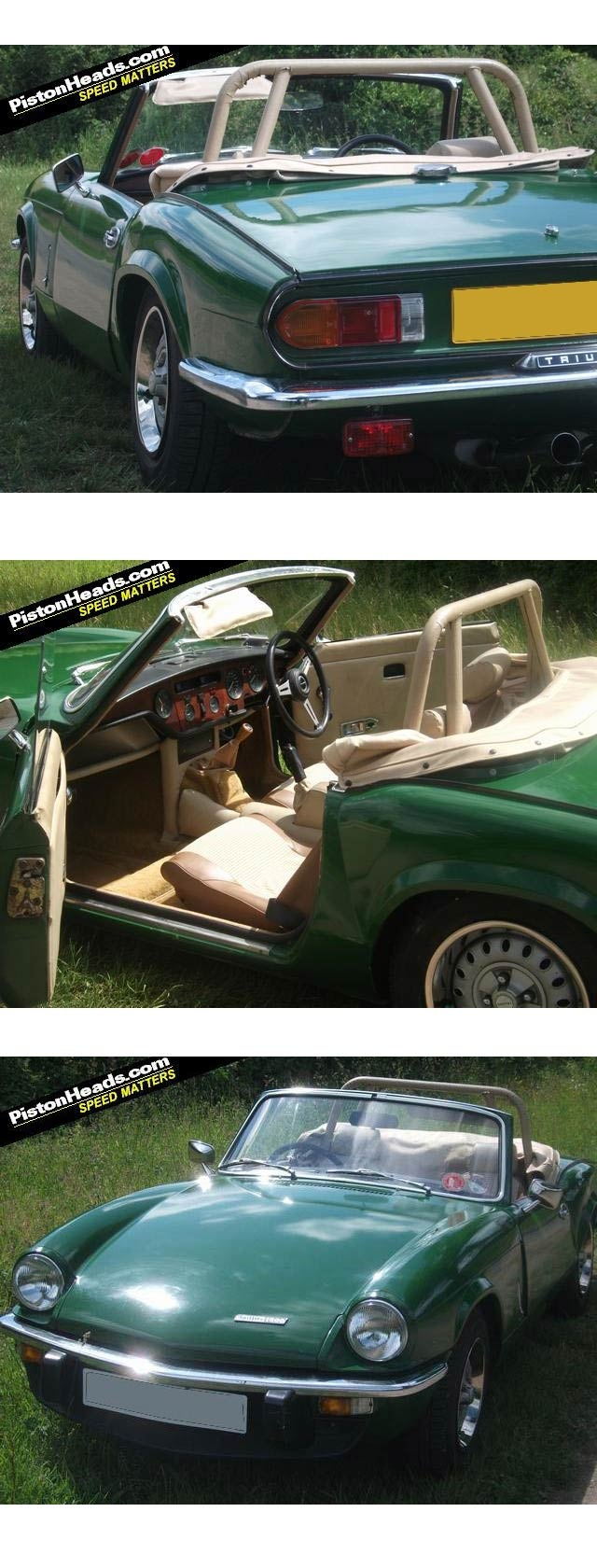 My first sports car back in the 70's was this exact car.   Triumph Spitfire!