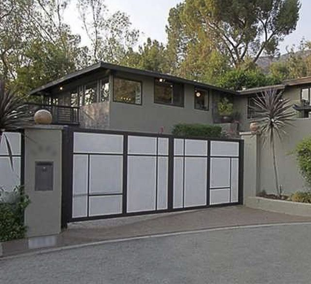 Los Angeles Ca Mid Century Modern Wood Garage Door Gate: 17 Best Images About Fences, Walls, And Gates On Pinterest