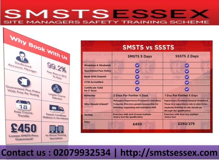 SMSTS course is gone for existing Site Managers, others required with Site Management inside the Construction Industry and those wishing to end up Site Managers; for instance http://smstsessex.com/