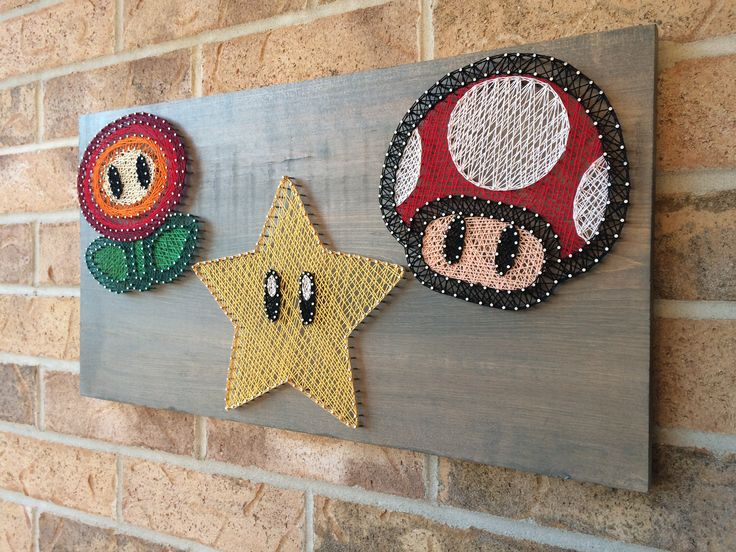 String Art - Nintendo Super Mario Bros.  Power Ups.