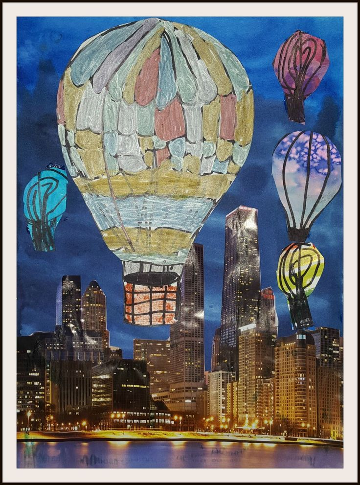 MaryMaking: Surreal Hot Air Balloon Collages