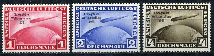 Dt. Reich Chicagofahrt 1933 Michel 496-498**