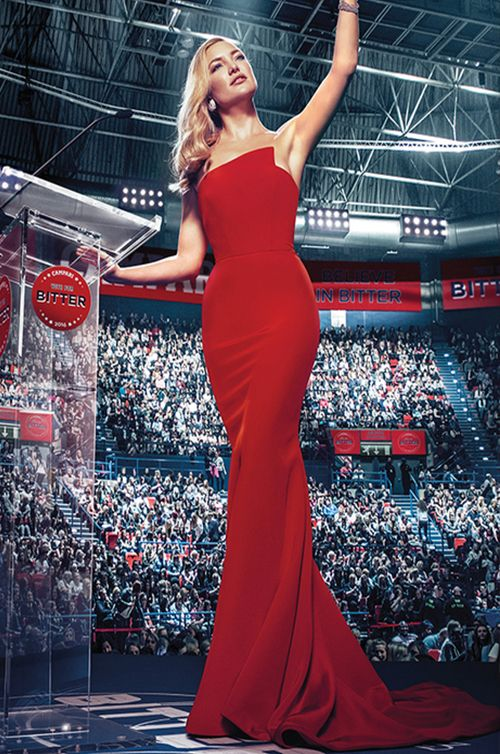 Oscar Nominated Actress, Kate Hudson wears Romona Keveza - 2016 Campari Calendar Cover