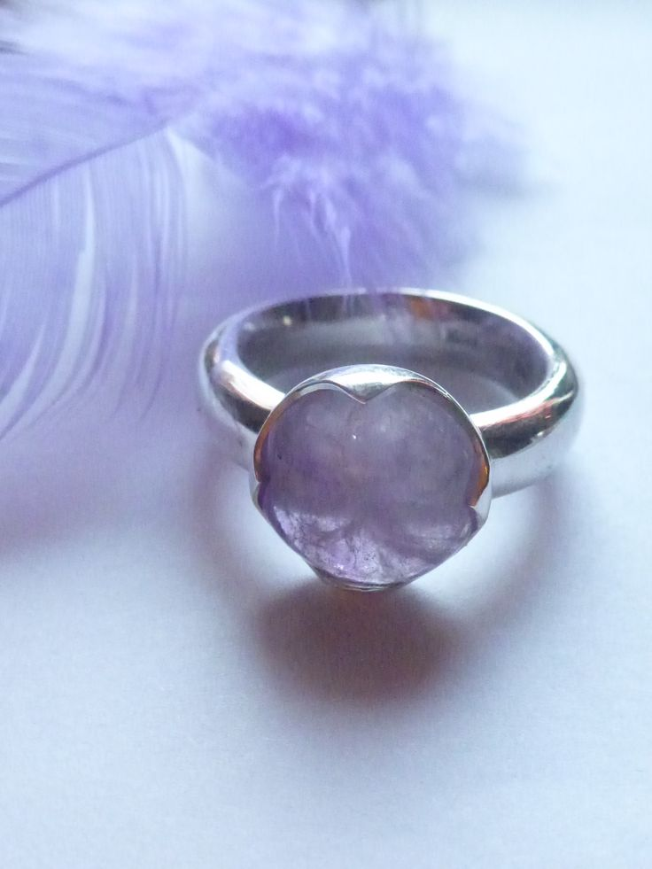 Amethyst & silver ring for my best friend.