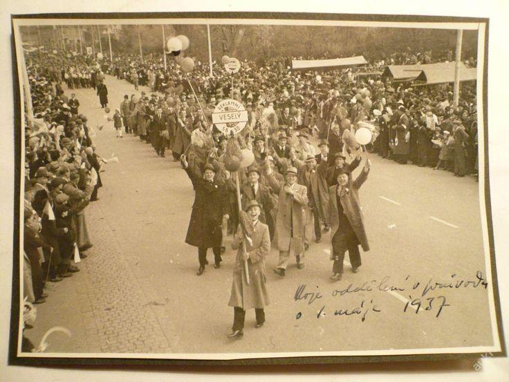 BAŤA - REKLAMNÍ ODDĚLENÍ v průvodu !!! 1.5.1937