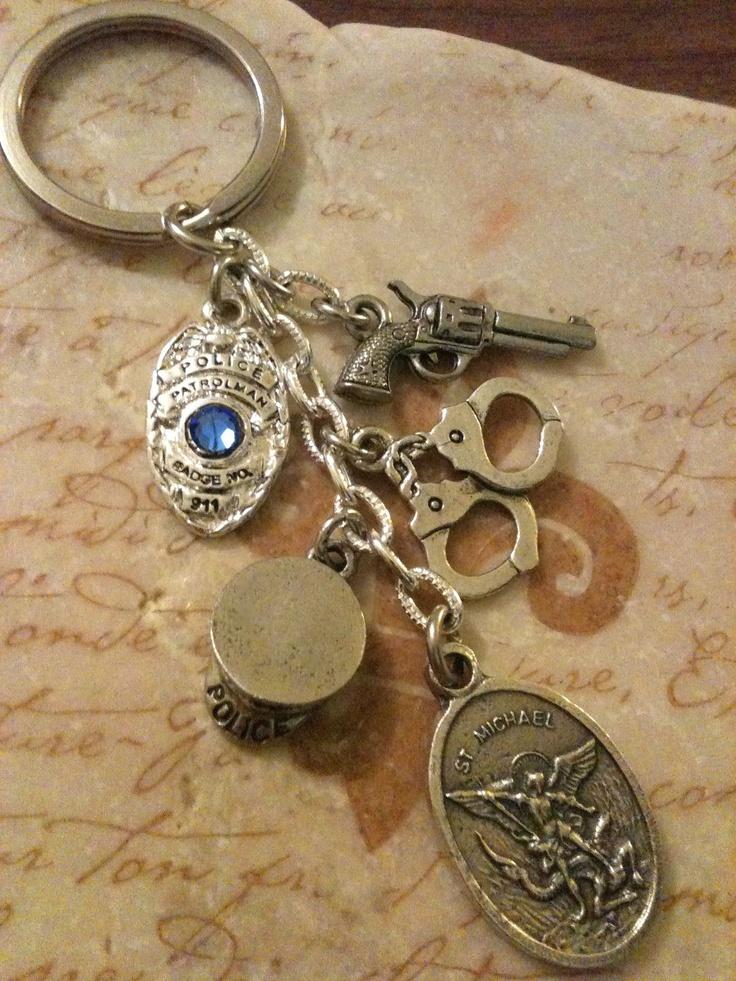 St. Michael -Law Enforcement Trinket Key Chain. $22.00, via Etsy.